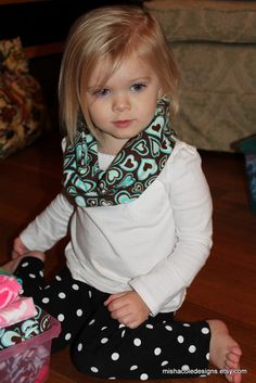 Infant Toddler Infinity Scarf Turquoise and by mishacoledesigns, $6.50