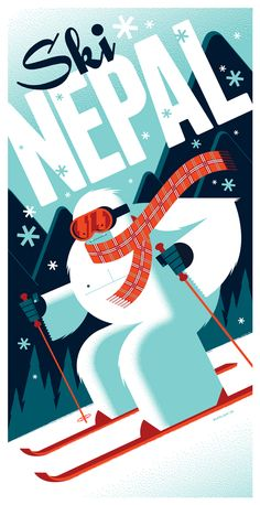 yeti print by strongstuff.deviantart.com on @deviantART  LOVE the type in this poster. Really great illustrator work!