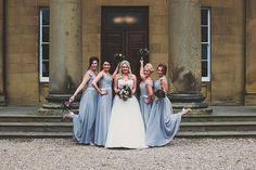 Entertain you. A Silver Dance Themed Wedding at Rise Hall. Bridesmaids wearing silver dresses. Image by Mike & Emma Bowering. Read more: http://bridesupnorth.com/2015/12/08/entertain-you-a-silver-and-plum-wedding-at-rise-hall-samantha-martin/