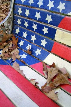 Stars and Stripes Forever - GREAT IDEA!  I need to paint our old bench and this looks like JUST the ticket Spangled Banner, Star Spangled, American Pride, American Flag, American Spirit, Apps, Bleu, I Love America, America 2