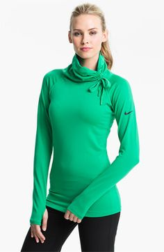Nike 'Pro Hyperwarm Hybrid' Dri FIT Training Top available at #Nordstrom Just got this, love love love. Runs snug, exchanged for a size up and its perfect.