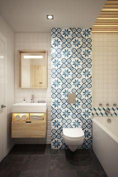 Apartment 40 sq m by Curly studio (bathroom) Модная квартира от молдавских дизайнеров (ванная)