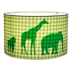 Little Dutch hanglamp dieren parade groen ruitje uit de online shop van Babyaccessoires.eu. In allerlei kleuren en prints.