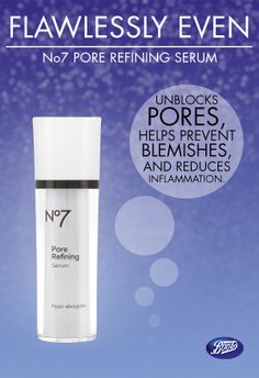 For all around beautiful skin, the Boots No7 Pore Refining Serum is just the thing!