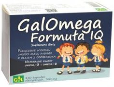 GALOMEGA FORMUŁA IQ // Połączenie wysokiej jakości oleju rybiego z olejem z ogórecznika. NATURALNE KWASY OMEGA-3 I OMEGA-6. Produkt skierowany jest do dzieci i młodzieży mających problem z nauką, zapamiętywaniem i przyswajaniem wiedzy. http://www.gal.com.pl/produkty/suplementy-diety/galomega-formula-iq.html