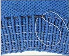 Мобильный LiveInternet Как ввести в вязаную резинку резиновую нить | -MALEFISENTA- - MALEFISENTA |
