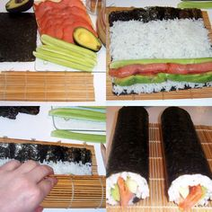 Easy Sushi Recipe - seafood dishes recipes making | Recipes Print
