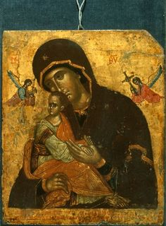 Virgin of the Passion, icon from St Catherine Monastery Religious Images, Religious Icons, Religious Art, Byzantine Icons, Byzantine Art, Russian Icons, Russian Art, Saint Catherine's Monastery, Images Of Mary