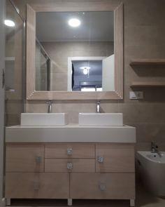 Bathroom Lighting, Mirror, Furniture, Home Decor, Custom Furniture, Bathroom Furniture, Bathroom Light Fittings, Homemade Home Decor, Mirrors