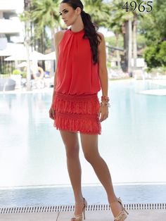 Primavera/Verano 2015 Sexy Dresses, Summer Dresses, Gatsby Party, Vintage Style Dresses, Charleston, What To Wear, Cold Shoulder Dress, Dress Up, Vintage Fashion