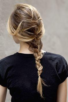#braid #hair #ombre #blonde