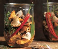 Pickling or marinating mushrooms is a great way to kick off that artisan food canning phase you've been meaning to develop.
