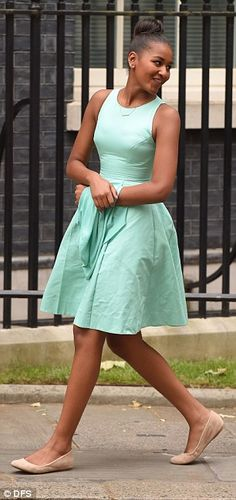 All grown up! As Malia and Sasha Obama dress to impress at Downing Street, a look at how they've blossomed from awkward teens to smart young style queens | Daily Mail Online