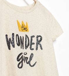"Image 3 of ""WONDER GIRL"" T-SHIRT from Zara"