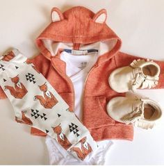 Sweet little fox onesie outfit for baby