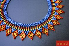 The finest Colombian craft for a sustainable planet. Beaded Necklace Patterns, Beading Patterns, Handmade Beads, Handmade Jewelry, Beaded Collar, Jewelry Making Tutorials, Bead Art, Etsy Shop, Nature Crafts