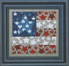 Bent Creek - Flag of Stars - Cross Stitch Kit