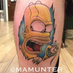 """@mamunter """"I'm Mike Wallace, I'm Morley Safer, I'm Ed Bradley. All this and Andy Rooney tonight on 60 minutes""""  #thesimpsonstattoo #thesimpsons #simpsonstattoo #simpsons #tattoo #moe #inked #tat #tattyslip #simpsonsfan #homer #bart #lisa #maggie #marge #mattgroening #futurama #cartoontattoo #cartoontats #epictattoo #simpsonstat"""