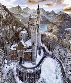 Neuschwanstein Castle This was an inspiration for Disneys Sleeping Beauty castle and its sometimes called castle. If you are planning to go to in Central The post Neuschwanstein Castle appeared first on Deneme. Beautiful Castles, Beautiful World, Beautiful Sky, Beautiful Buildings, Beautiful Scenery, Beautiful Landscapes, Places To Travel, Places To See, Wonderful Places