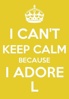 I CAN'T KEEP CALM BECAUSE I ADORE  L FROM INFINITE!!!