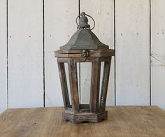 Industrial Farmhouse Decor!! Wood and Metal Lanterns-$34.95 from Rust and Relics LLC!! www.rustandrelics.net