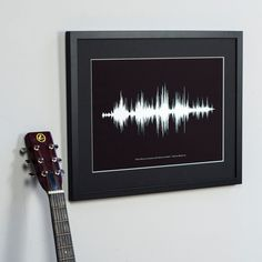 Personalised song or voice sound wave print | hardtofind.