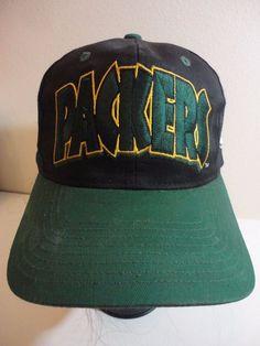 0b863e98e40 Eastport SnapBack PACKERS hat cap Team NFL Embroidered Black Cotton Blend   eastport  BaseballCap