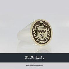 Morris family crest jewelry