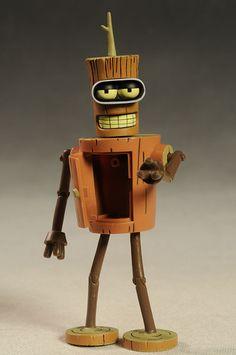 Futurama Wooden Bender, URL action figure by Toynami