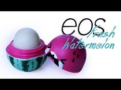 DIY: EOS Lip Balm 100% Natural Ingredients + The Perfect Dome Shape - YouTube