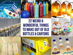 Mancave and Tips - 22 Weird & Wonderful Things To Make Out Of Old Bottles & Cartons Plastic Bottle Cutter, Plastic Bottle Crafts, Diy Bottle, Recycle Plastic Bottles, Old Bottles, Vintage Bottles, Vintage Perfume, Perfume Bottles, Antique Bottles