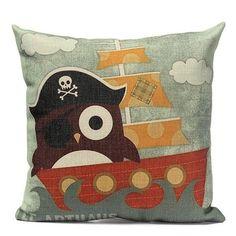 Cute Owl Print Pillow Case