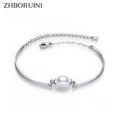 2017 Charm Bracelet Bangles Pearl Jewelry Natural Freshwater Pearl Bracelets Sterling Silver Jewelry Bracelet For Women