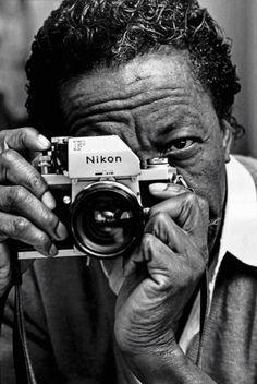 Gordon Parks and Nikon F, 1970.