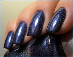 Dark blue nails- looks like the color I got today, absolutely love it.