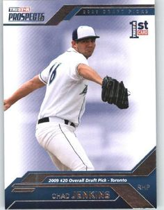 Chad Jenkins - RC - Rookie Card - 1st Professional Card - Toronto - 2009 #20 Overall Draft Pick - 2009 TRISTAR Prospects Plus Baseball Card # 15?? - MLB Trading Card by TriStar. $1.93. Chad Jenkins - RC - Rookie Card - 1st Professional Card - Toronto - 2009 #20 Overall Draft Pick - 2009 TRISTAR Prospects Plus Baseball Card # 15?? - MLB Trading Card