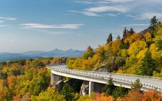 """Blue Ridge Parkway Billed as """"America's Favorite Drive,"""" the spectacular drive joins Shenandoah National Park in Virginia and Great Smoky Mountain National Park in North Carolina. The Places Youll Go, Places To See, Places To Travel, Travel Destinations, Shenandoah National Park, Smoky Mountain National Park, Time In The World, On The Road Again, Travel And Leisure"""