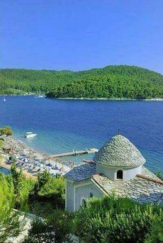 Panormos beach, Skopelos island, Sporades, Greece