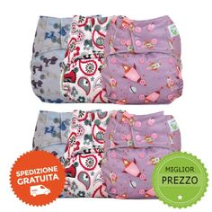 Kit pannolini lavabili Sweet Pea Pocket One size