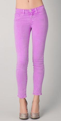 J Brand 811 Ankle Skinny Jeans Neon Purple