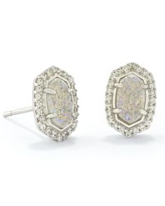 Cade Stud Earrings in Silver - Kendra Scott Jewelry.