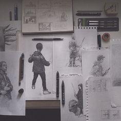Sketchbook Yuri Shwedoff Art And Illustration, Yuri Shwedoff, Pencil Drawings, Illustrators, Photo Wall, Gallery Wall, Sketches, Inspiration, Frame