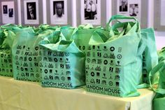 Custom Random House tote bags for guests