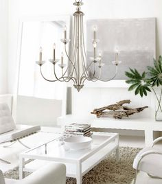 Crystal Palace Brushed Nickel 9 Lights Chandelier Crystal Iron Arms Modern Style at LightingBox.com Canada