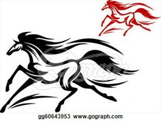 Stock Illustration  Fast Running Horse In Vector For Tattoo Or Mascot