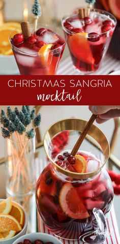 Non-Alcoholic Sangria for Christmas - easy and tasty recipe