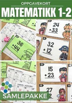 Oppgavekort er veldig kjekke oppgaver som kan brukes sammen med hele klassen, i sm grupper p stasjoner eller som individuelt arbeid. Felles retting er fint, eventuelt kan elevene bytte svarark eller sammenligne med en venn. Du kan i tillegg bruke kortene til arbeid med muntlig matematikk, enten p lrerstyrt stasjon eller i par og gruppe. $52.00