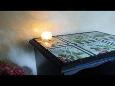 How to Decoupage Furniture with Fabric - YouTube