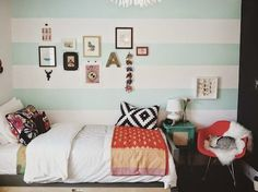 anne makeup®: mural de décor: parede listrada