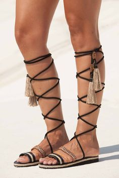 96b65bc6850 Tory Burch - Blossom Gladiator Leather Sandals